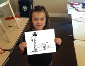 You don't have time to worry about life's challenges when you're busy creating a cool cartoon giraffe!