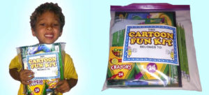 Everything in our gift packs for the children is nontoxic and latex-free!